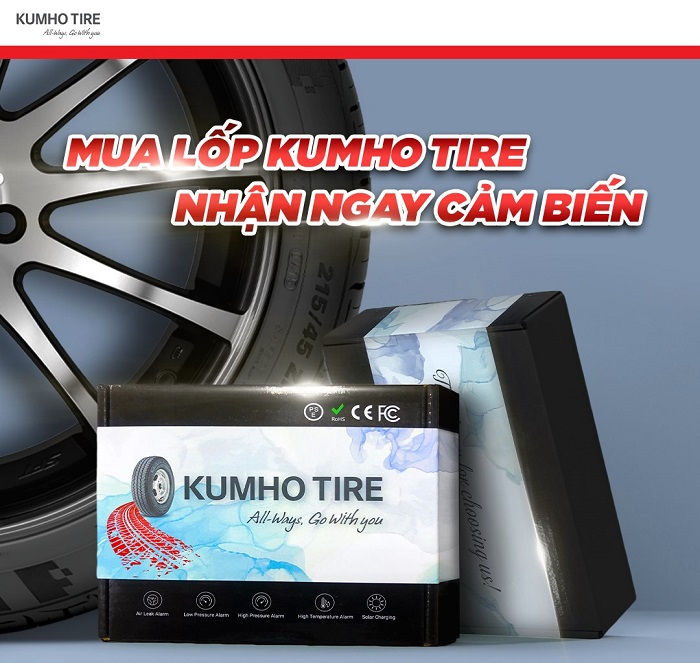 Thay lốp Kumho tại Minh Phát Hà Nội - Tặng ngay bộ van lắp cảm biến áp suất