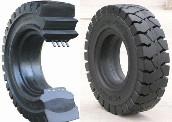lốp xe nâng phải sử dụng loại máy ép có công suất ép phù hợp với lốp xe