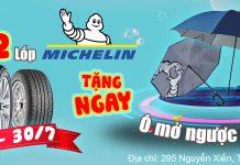 Khuyến mãi thay lốp Michelin