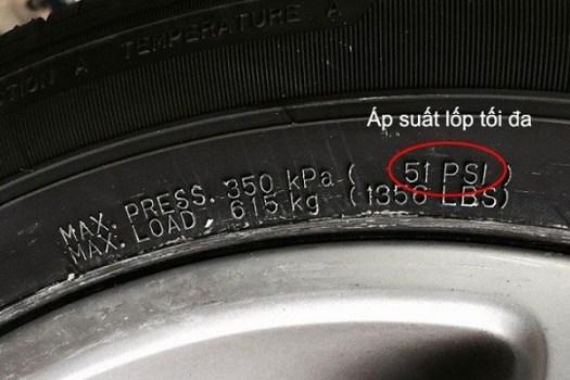 Áp suất được ghi trên bệ cửa là áp suất mà nhà sản xuất khuyến nghị